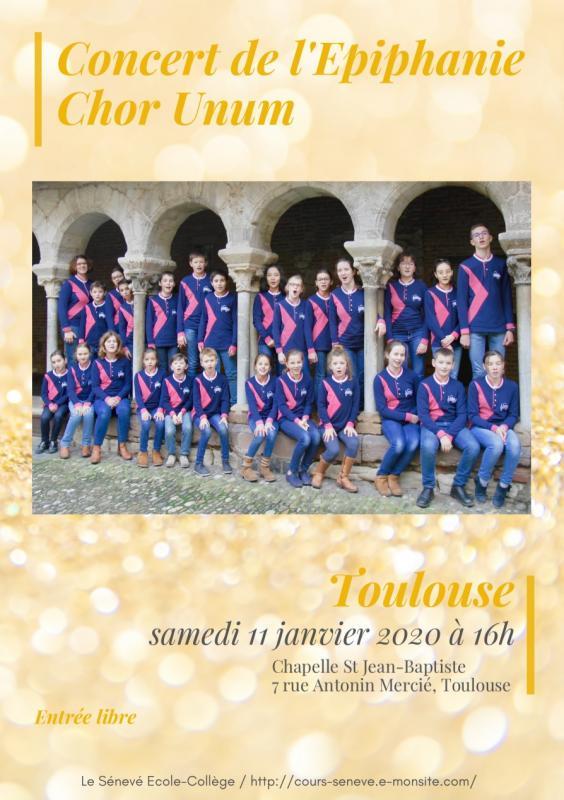 Concert de l epiphanie chor unum 11 janvier 2020